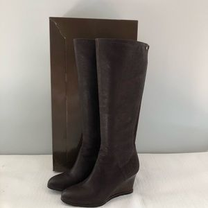 Franco Sarto womens Expresso leather knee boots